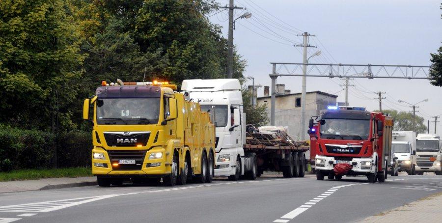 Wyciek z ciężarówki powodem korków na krajówce