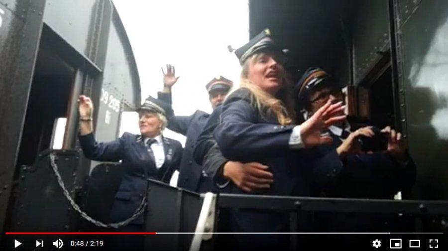 Pociąg Niepodległości przyjechał do Trzebini (WIDEO)
