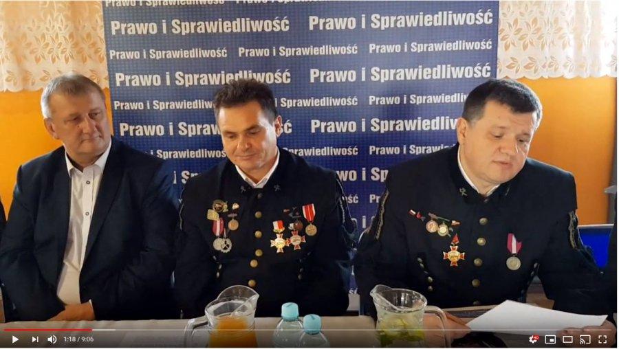 Związkowcy z kopalni Janina poparli Krzysztofa Kozika (WIDEO)
