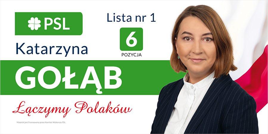 Łączymy Polaków - ogłoszenie wyborcze Katarzyny Gołąb