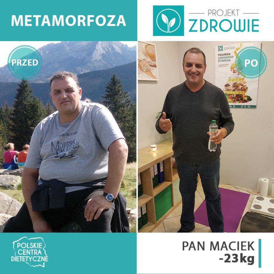 Kolejny sukces w Projekt Zdrowie w Chrzanowie! Pan Maciej schudł 23 kg!
