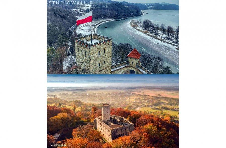 Czy na wieży zamku Lipowiec mogłaby powiewać biało-czerwona flaga?
