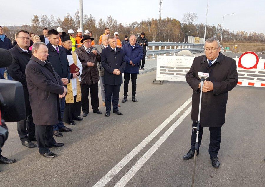 Minister otworzył nowy wiadukt (WIDEO)