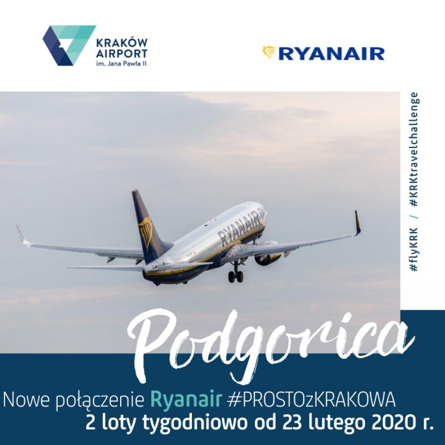 Z Krakowa samolotem także do stolicy Czarnogóry