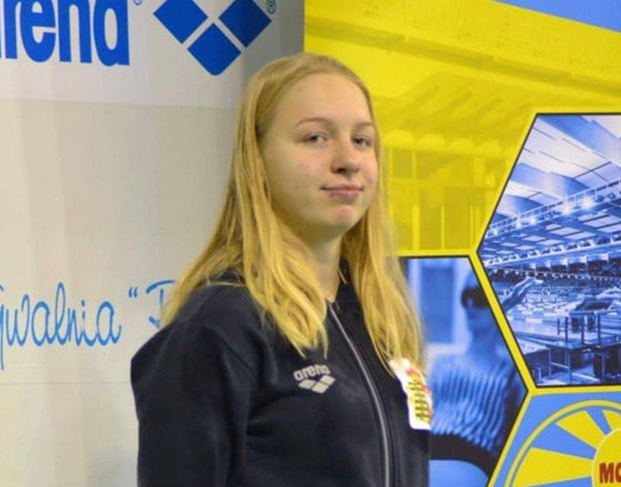 Justyna Poznańska zdobyła dwa medale mistrzostw Polski w pływaniu