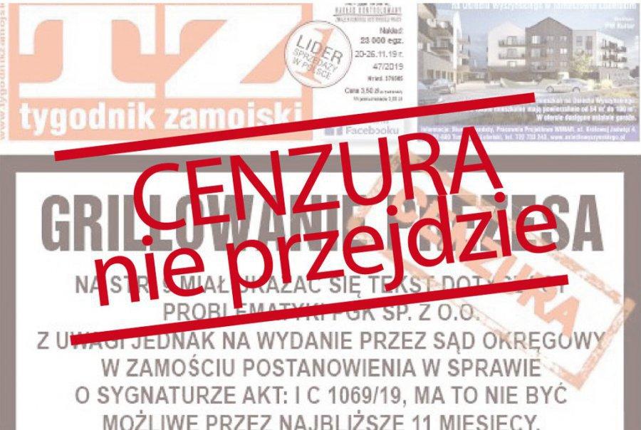 Cenzura zdjęta 13 grudnia! Można pisać o komunalce