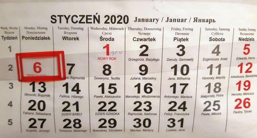 Gorszy układ świąt w 2020 roku