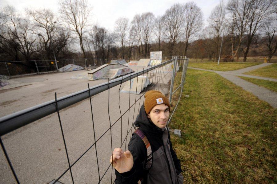 W Chrzanowie protest w obronie modernizacji skateparku