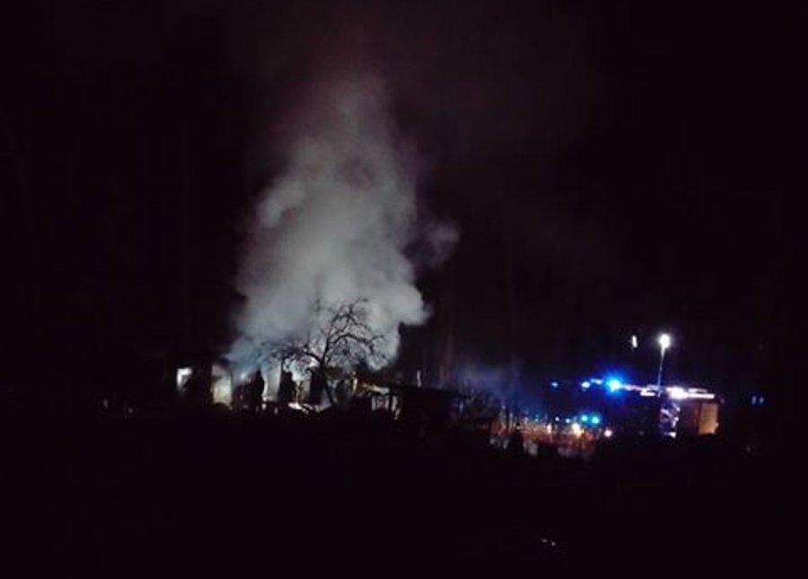 Pożar na osiedlu Stella w Chrzanowie