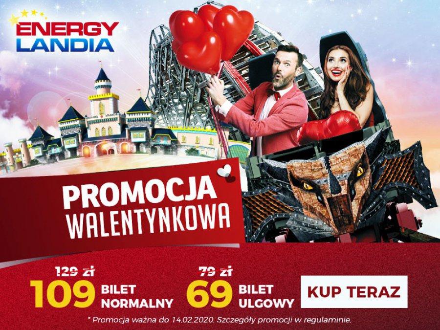 Z drugą połówką do Energylandii! Załap się na walentynkową promocję biletów do największego Parku Rozrywki w Polsce!