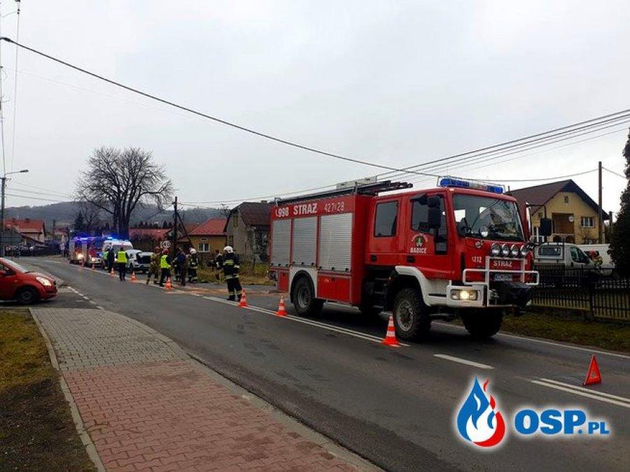 Wypadek na szosie wojewódzkiej w Babicach. Kobieta została przewieziona do szpitala