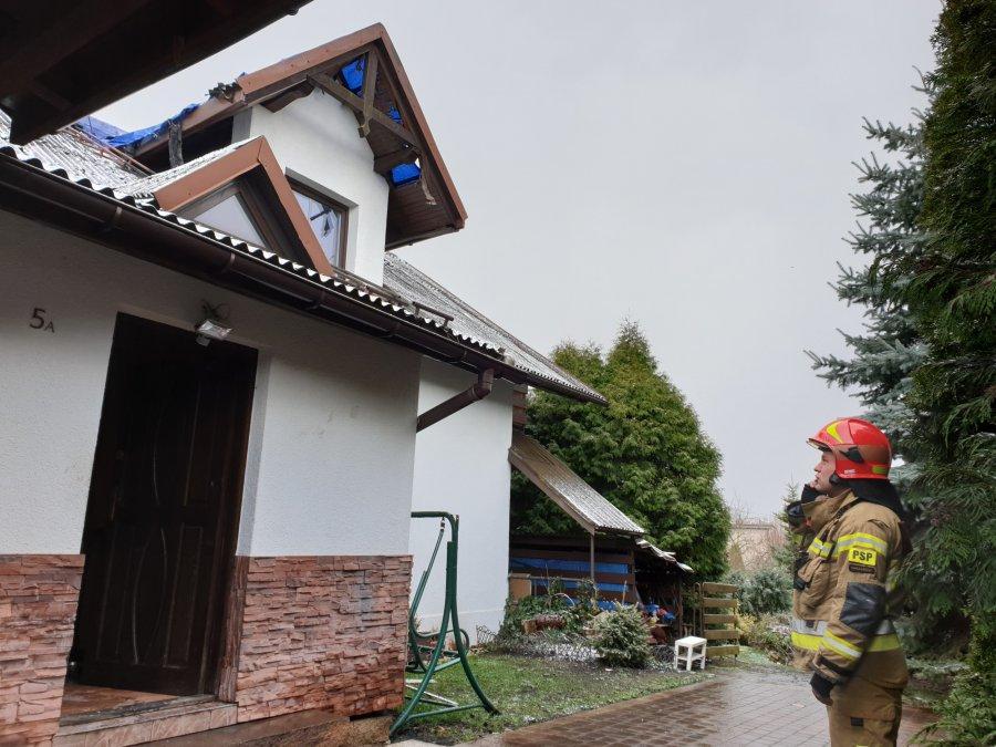 Pani Bożena poszkodowana w pożarze domu dziękuje za ratunek (ZDJĘCIA)