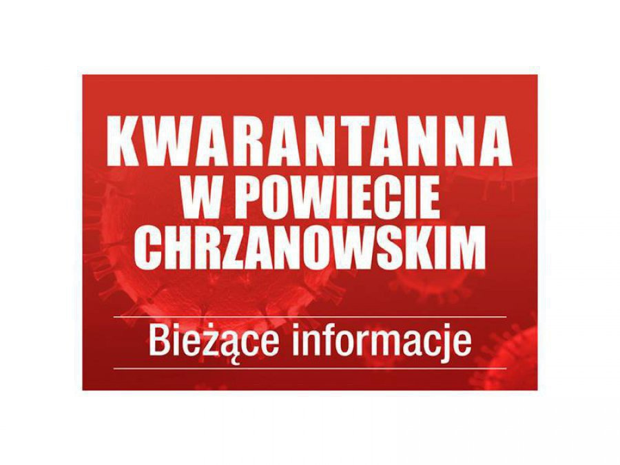 Koronawirus. 14 osób mniej na kwarantannie w powiecie chrzanowskim