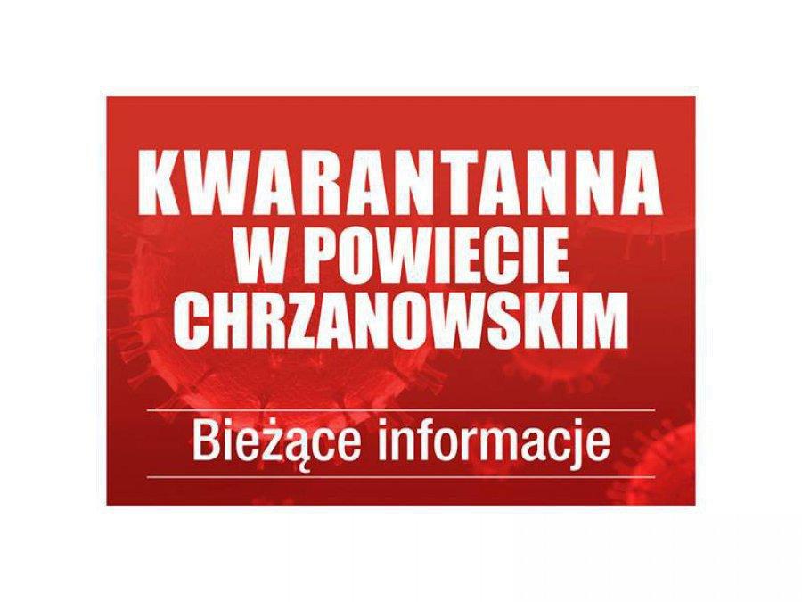 Zwiększyła się liczba osób na kwarantannie w powiecie chrzanowskim