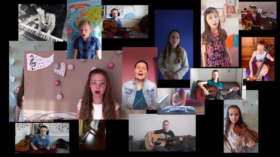 Młodzi artyści nagrali muzyczne przesłanie dla mieszkańców powiatu. Posłuchajcie, jak zaśpiewali piosenkę Wodeckiego