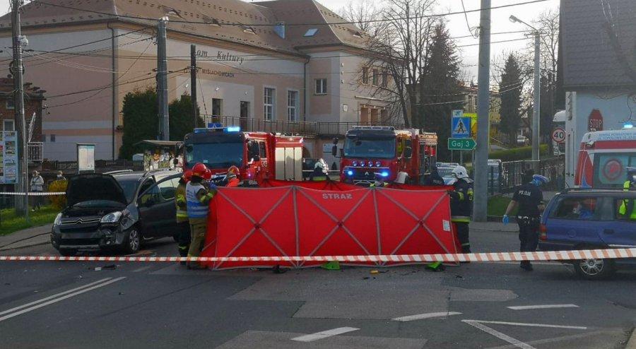 Wypadek w centrum Myślachowic. Nie żyje motocyklista