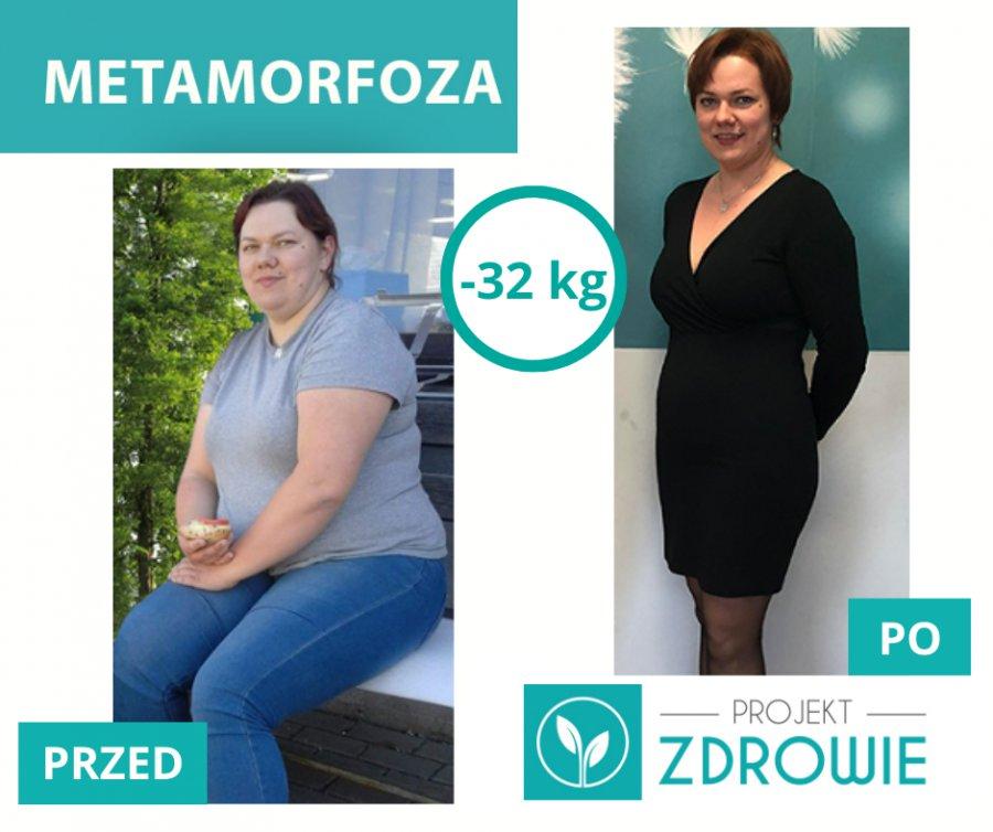 Silna wola, determinacja w dążeniu do celu i udało się! - 32 kg z Projektem Zdrowie