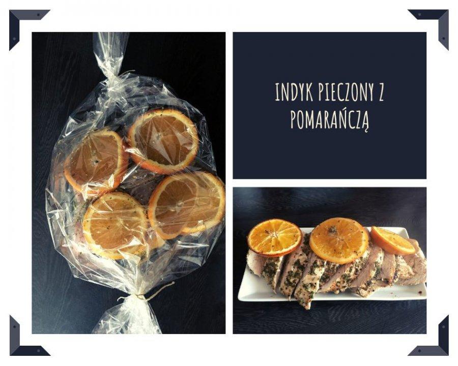 Aromatyczny indyk pieczony w rękawie z pomarańczą