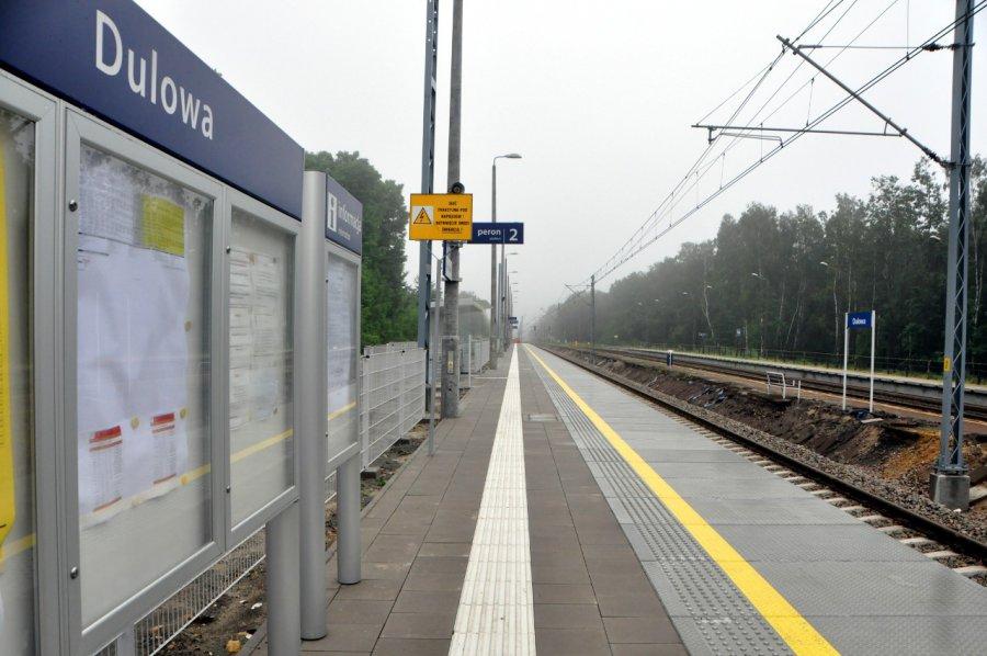 Wypadek koło przystanku kolejowego w Dulowej