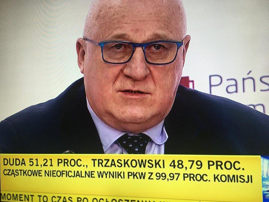 PKW ogłosiła nieoficjalny wynik wyborów - wygrał Andrzej Duda
