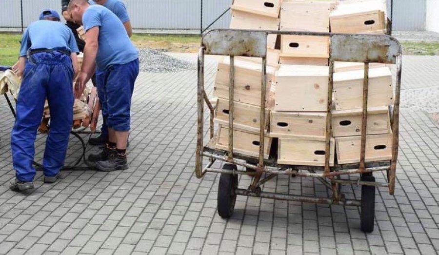 Sto budek dla jerzyków od więźniów z Trzebini (ZDJĘCIA)