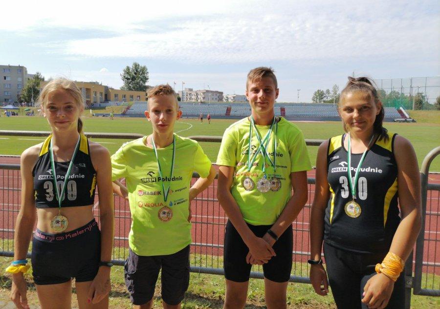 Lekkoatletów z Trzebini dekorowała medalistka olimpijska
