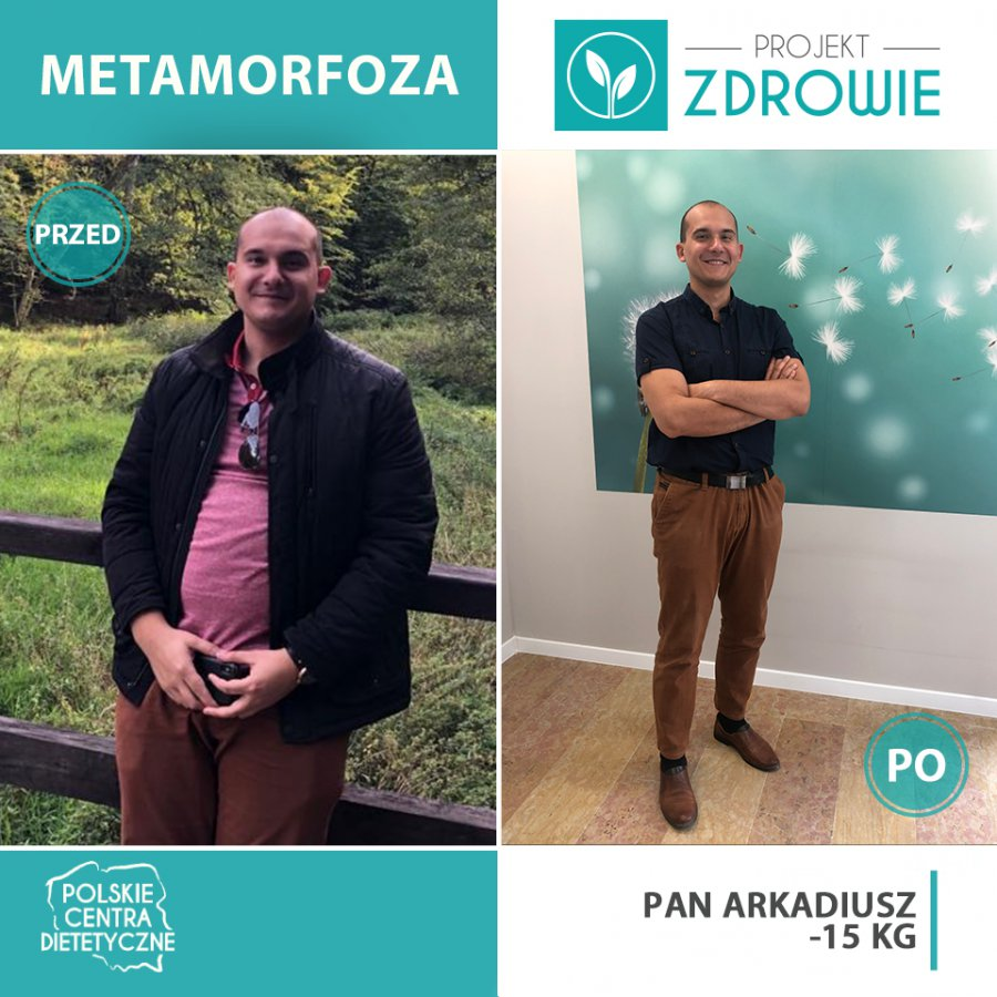 Pan Arkadiusz schudł 15 kg w Projekt Zdrowie!