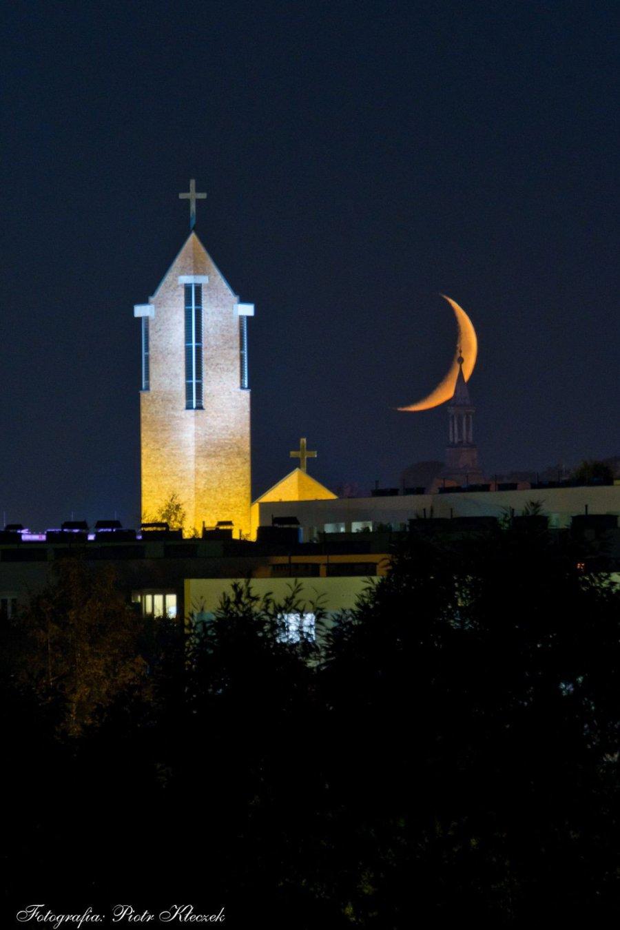 Wraz z Księżycem żegnamy lato z górki św. Józefa