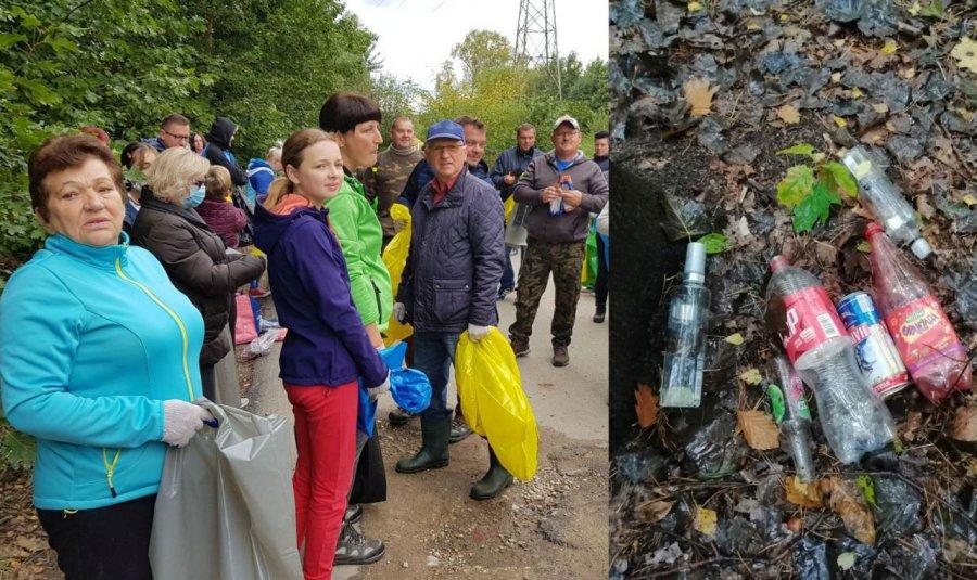 Tyle co posprzątali, a w lesie znów śmieci