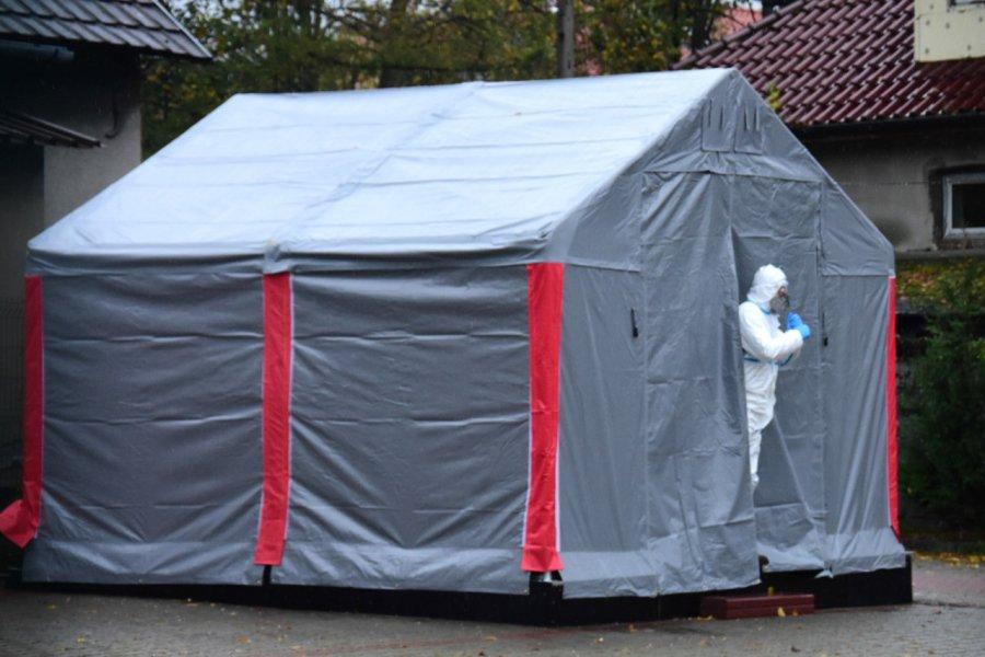 Mobilny punkt badań na koronawirusa zaczął działać w Krzeszowicach