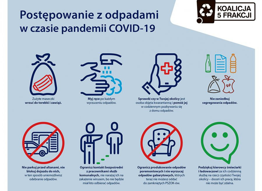 Jak postępować ze śmieciami w czasie pandemii. Praktyczne rady dla mieszkańców Chrzanowa i okolic