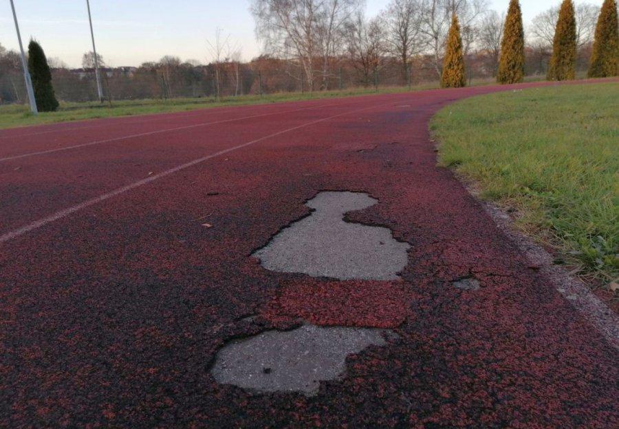 Biegacze alarmują: Bieżnia nadaje się do pilnego remontu