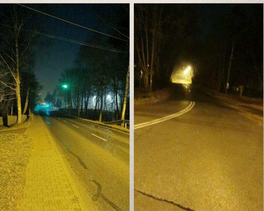 Ciemno na drodze. Lampy nie świecą od kilku dni