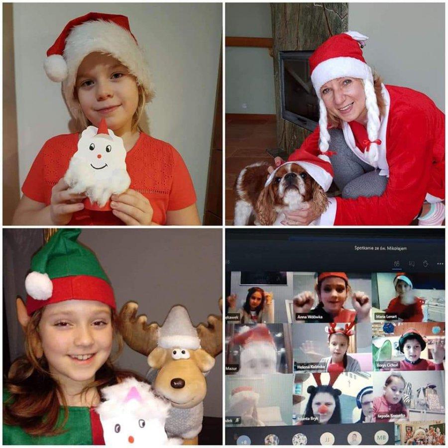 Mikołaj przyszedł do dzieci online