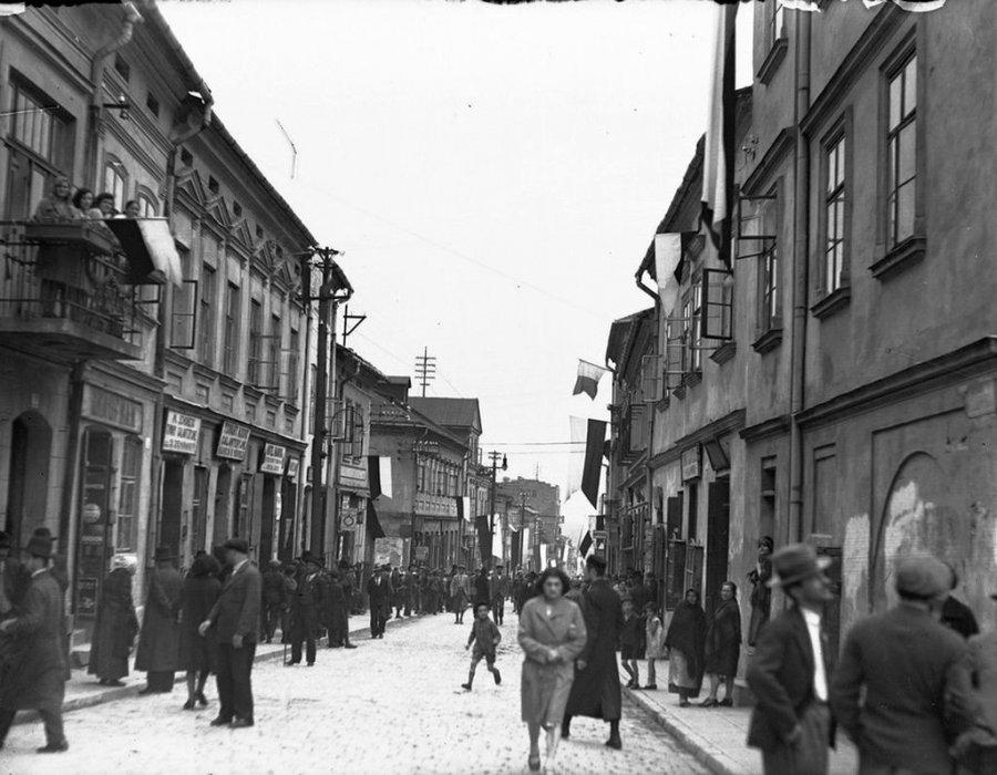 Tak wyglądała główna ulica w Chrzanowie 90 lat temu