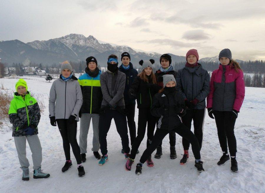 Lekkoatleci z Trzebini aktywnie spędzają ferie pod Tatrami