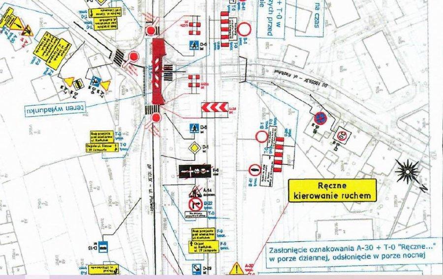 Zmiana organizacji ruchu na Podwalu. Nocami będzie zamknięty jeden pas