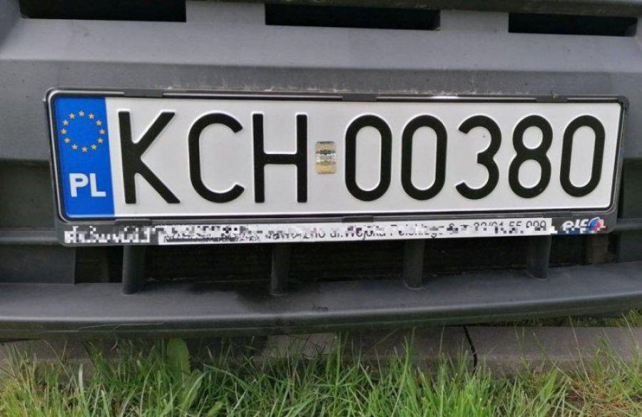 Uwaga, kradną tablice rejestracyjne