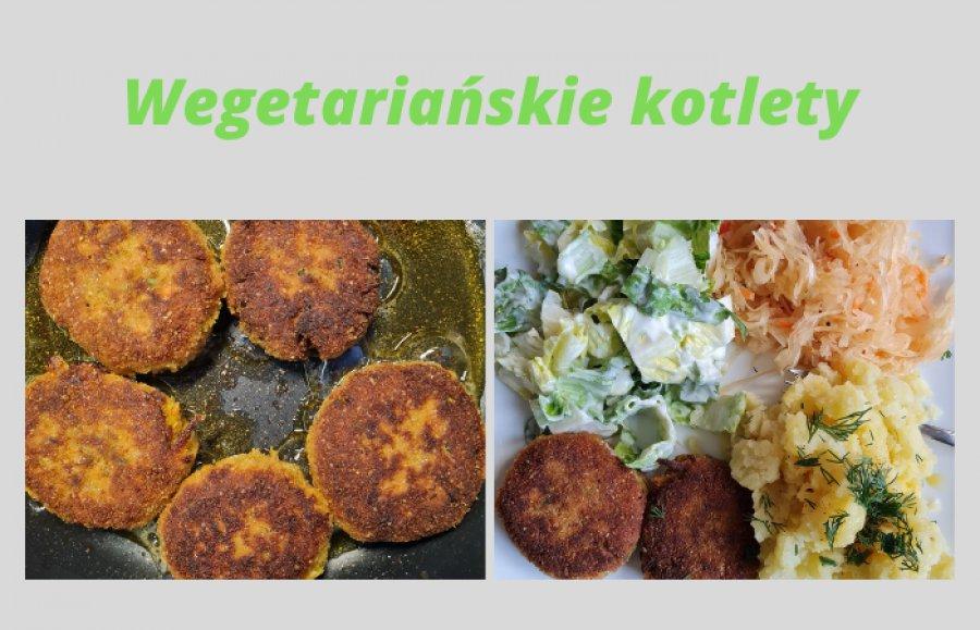 Coś dla wegetarian. Kotlety z cukinii z dodatkiem ziemniaków i marchewki