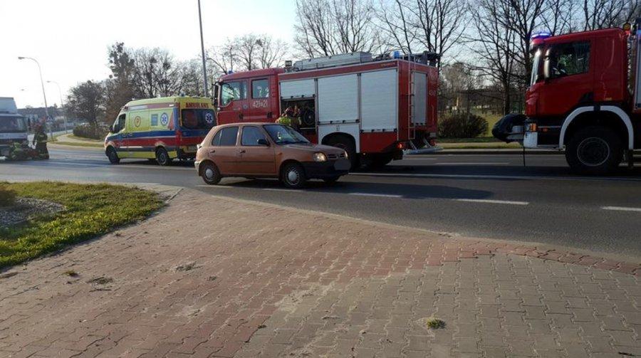 Wypadek w Trzebini. Skuter zderzył się z ciężarówką