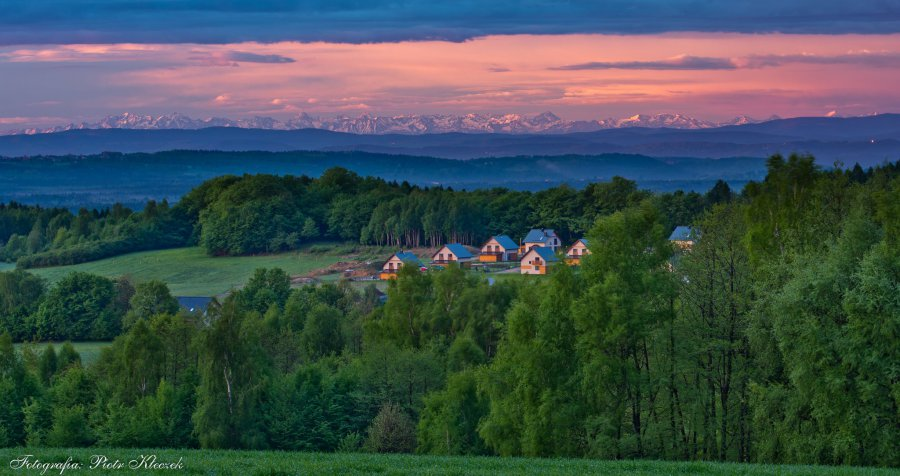 Spacery młoszowskie z widokiem na Tatry