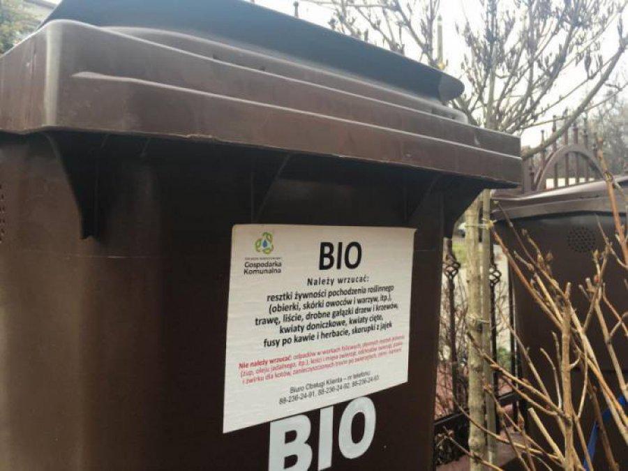 Związek gospodarki komunalnej przyjmuje wnioski o wymianę pojemników na bioodpady