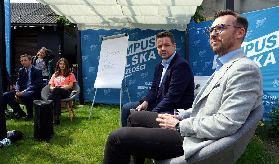 Prezydent Rafał Trzaskowski był w Chrzanowie. O czym chce rozmawiać z młodymi ludźmi na Campusie (WIDEO)