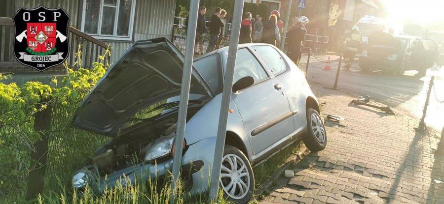 Wypadek na ul. Krakowskiej. Jedna osoba trafiła do szpitala