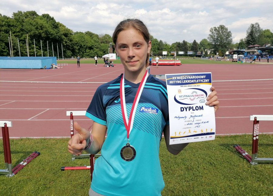 Lekkoatletka z Trzebini wygrała w Bielsku-Białej z trzecim wynikiem w Polsce