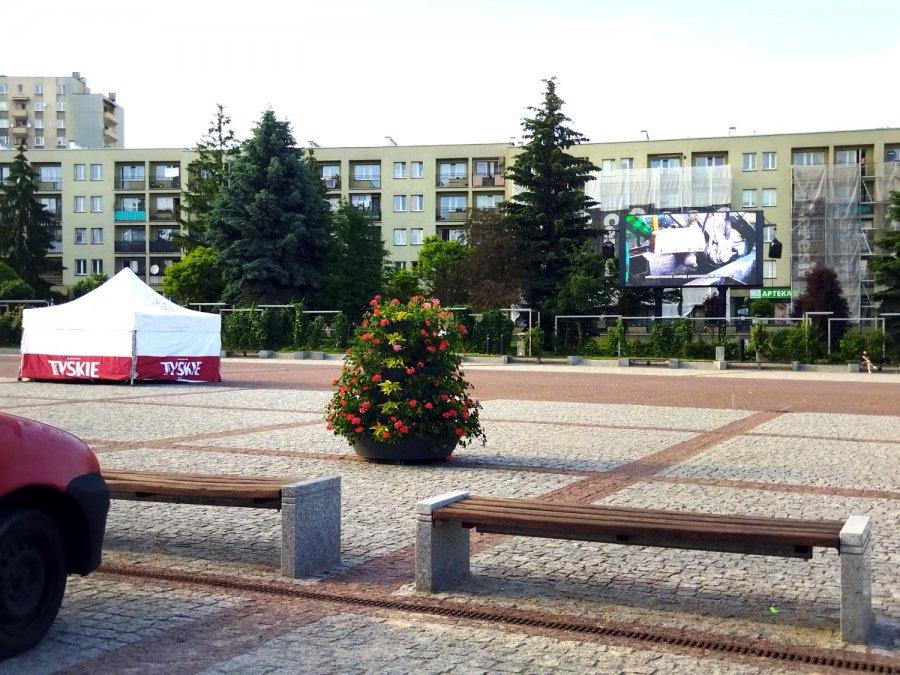 Mistrzostwa Euro na placu Tysiąclecia w Chrzanowie