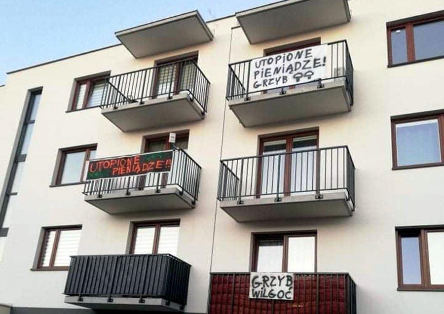 UTOPIONE PIENIĄDZE!!! Akcja protestacyjna na nowym osiedlu w Chrzanowie