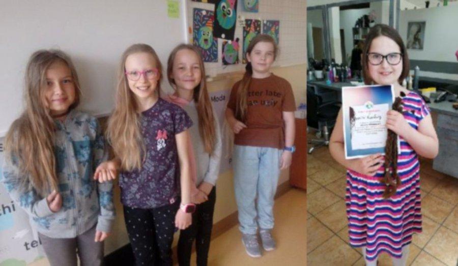Uczennice z Chrzanowa oddały włosy kobietom chorym na raka