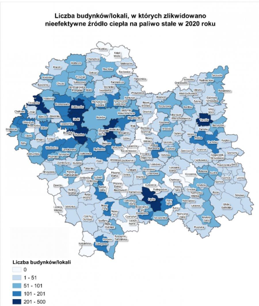 Chrzanów w czołówce małopolskich gmin rozprawiających się z kopciuchami