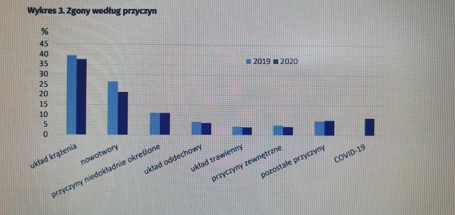 Na co ludzie umierali w roku 2020 według GUS? Ilu zabrał COVID-19?- statystyki wstępne